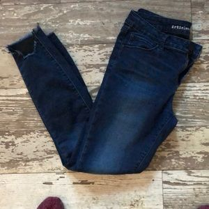 Articles of Society ankle ripped jeans